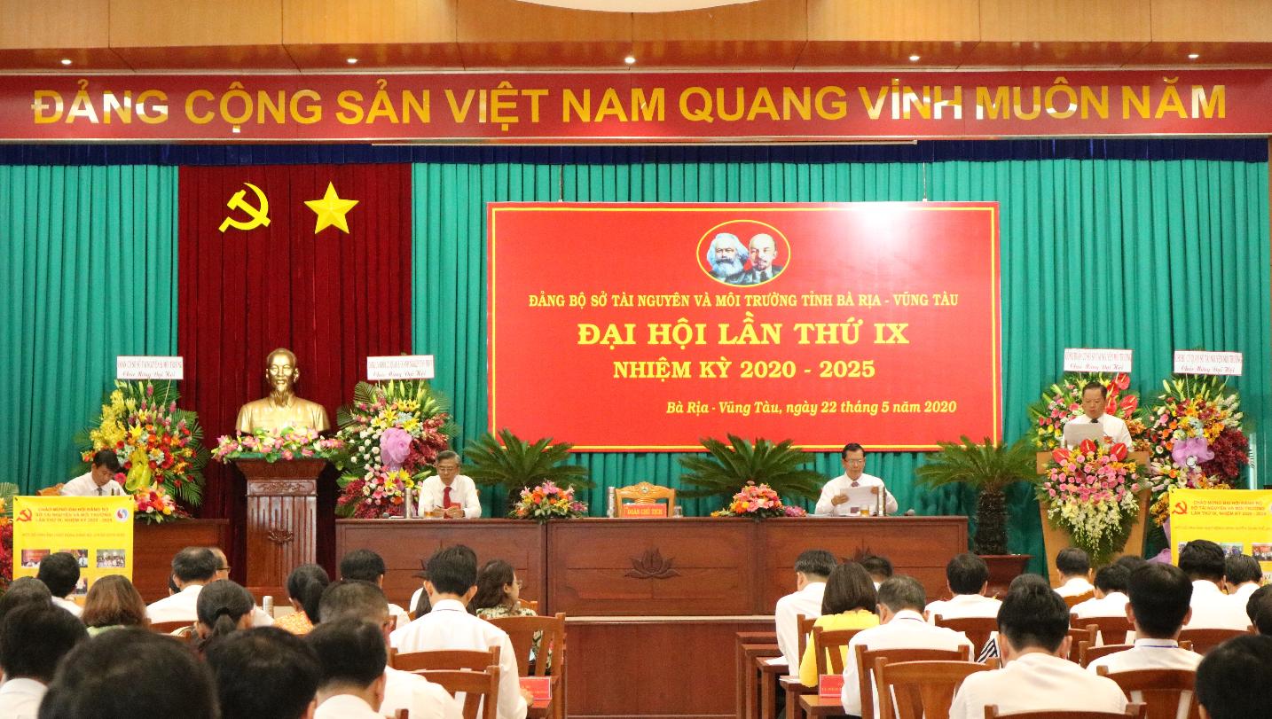 Đại hội Đảng bộ Sở Tài nguyên và Môi trường tỉnh Bà Rịa - Vũng Tàu lần thứ IX nhiệm kỳ 2020 – 2025